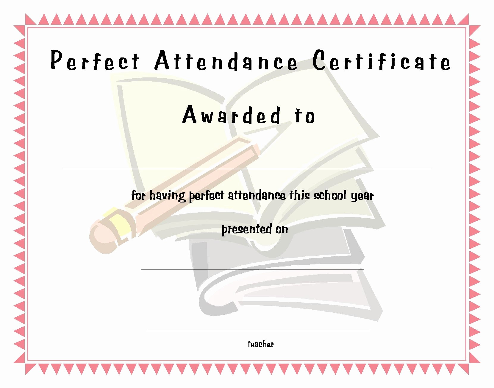 Free Printable Perfect attendance Certificates Fresh Perfect attendance Funny Quotes Quotesgram