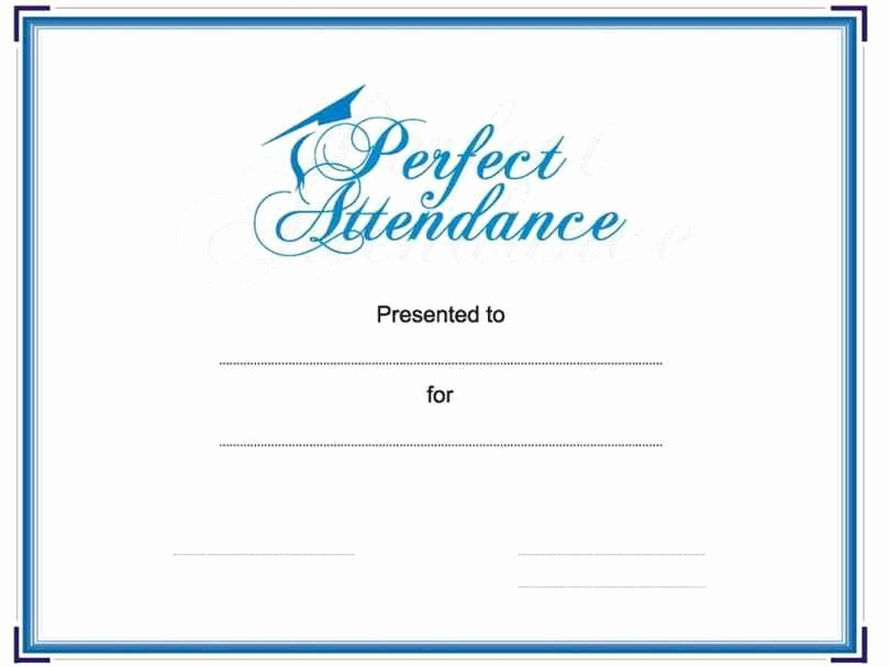 Free Printable Perfect attendance Certificates Lovely Free Printable Perfect attendance Certificate Template