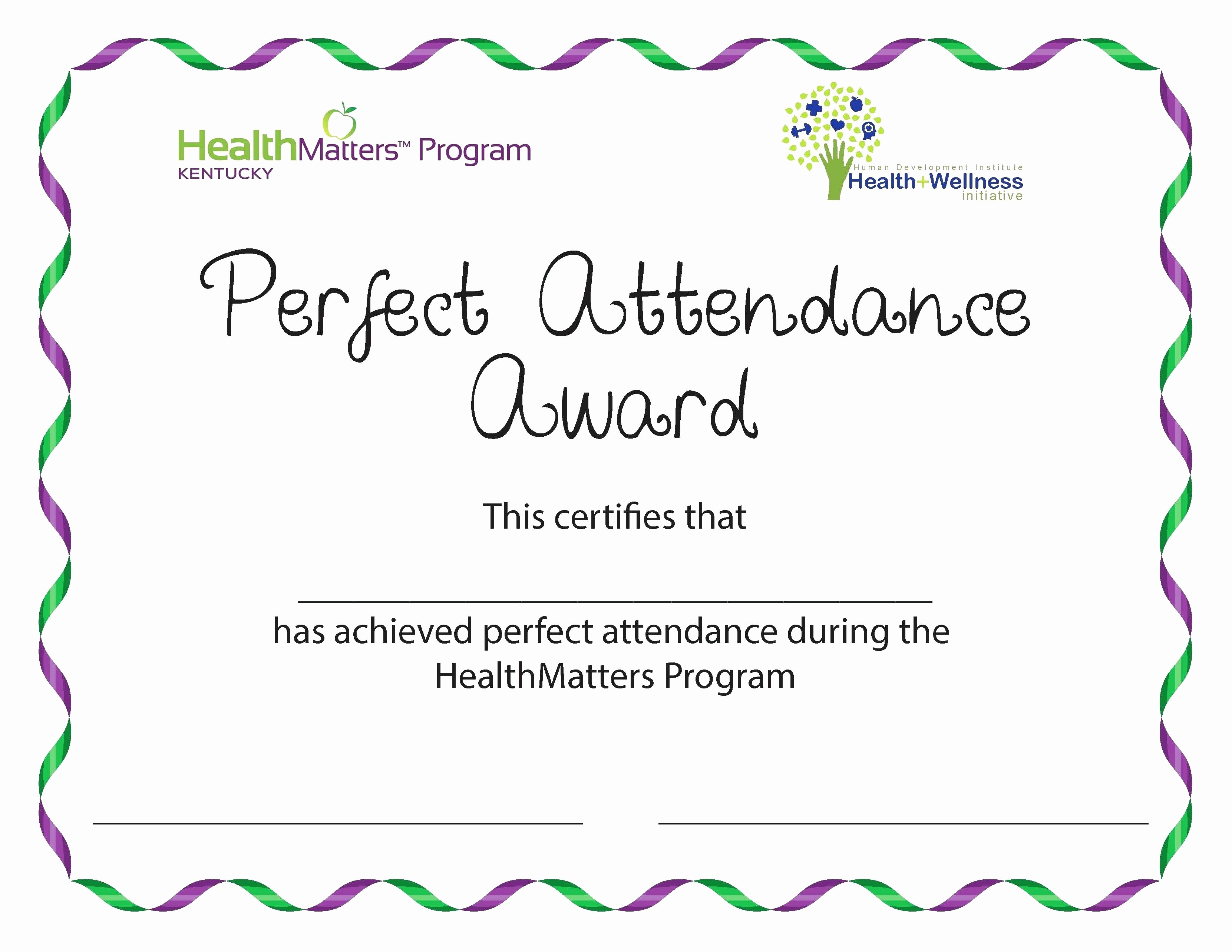 Free Printable Perfect attendance Certificates New Template Editable Award Certificate Template