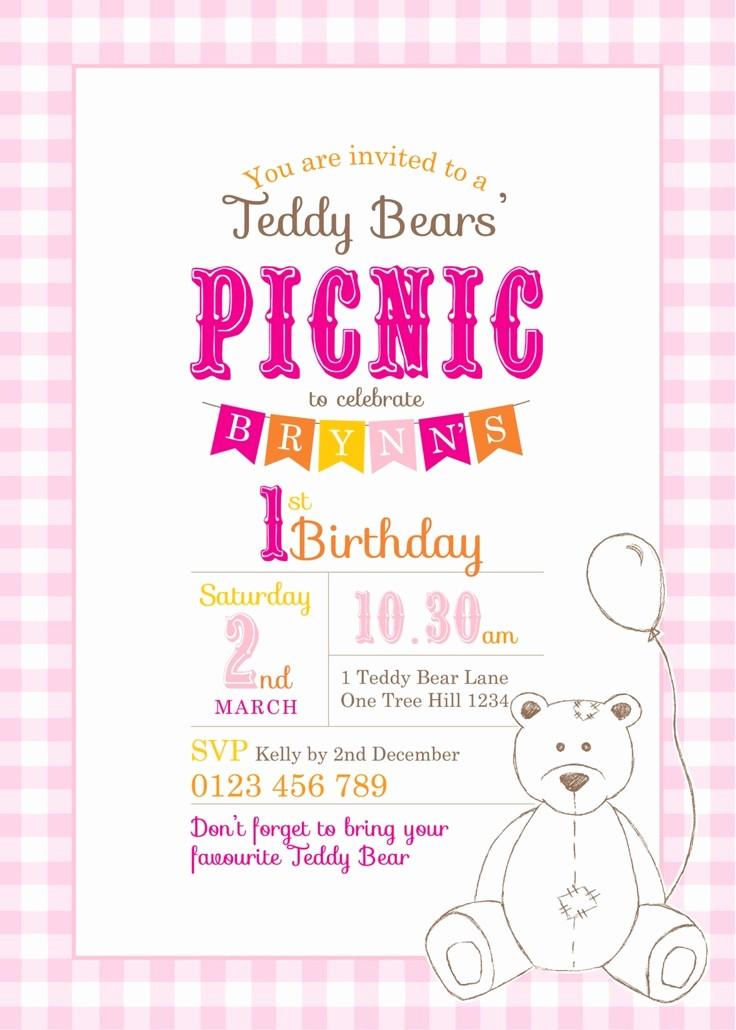 Free Printable Picnic Invitation Template Awesome Printable Custom Birthday Party Invitation Template
