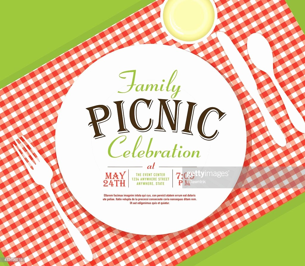 Free Printable Picnic Invitation Template Elegant Picnic Invitation Design Template Angle Placesetting