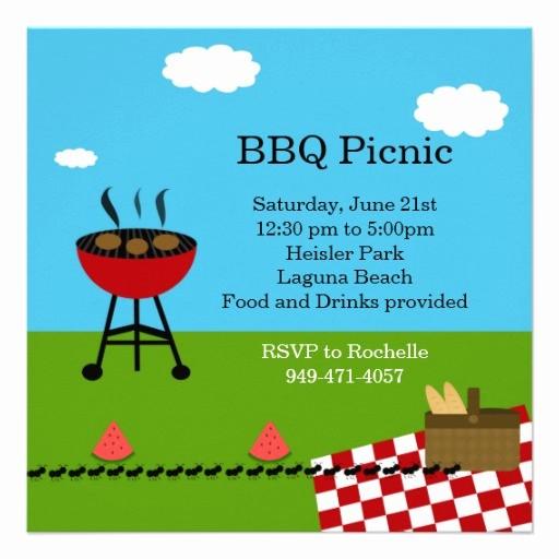 Free Printable Picnic Invitation Template Fresh Bbq Party Invitation Templates Free
