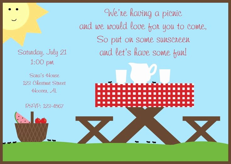 Free Printable Picnic Invitation Template Fresh Perfect Picnic Quotes Google Search
