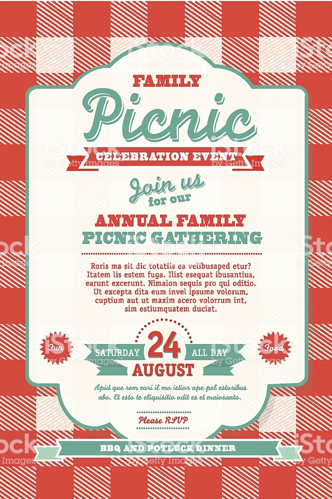 Free Printable Picnic Invitation Template Lovely Bbq Tablecloth Picnic Invitation Design Template Stock