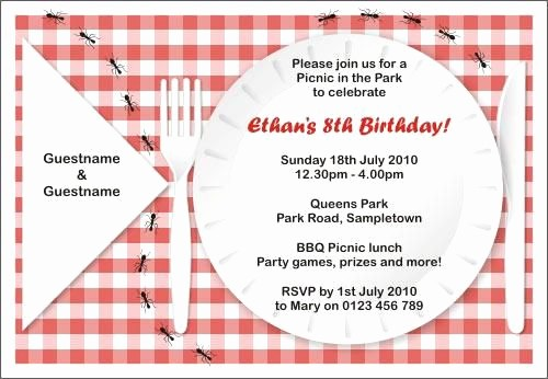 Free Printable Picnic Invitation Template Luxury Free Printable Picnic Invitations Templates