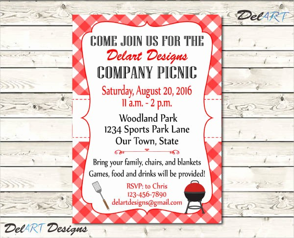 Free Printable Picnic Invitation Template New 14 Lunch Invitation Templates Free Sample Example