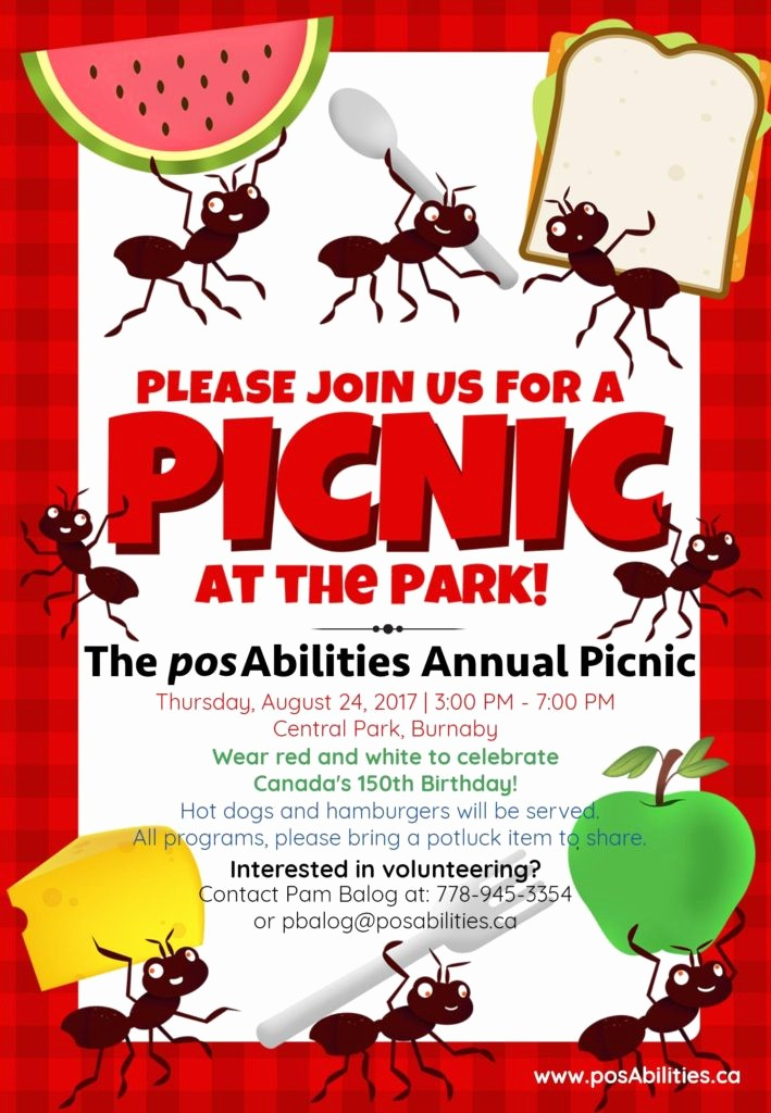 Free Printable Picnic Invitation Template Unique Posabilities Annual Picnic at the Park Posabilities