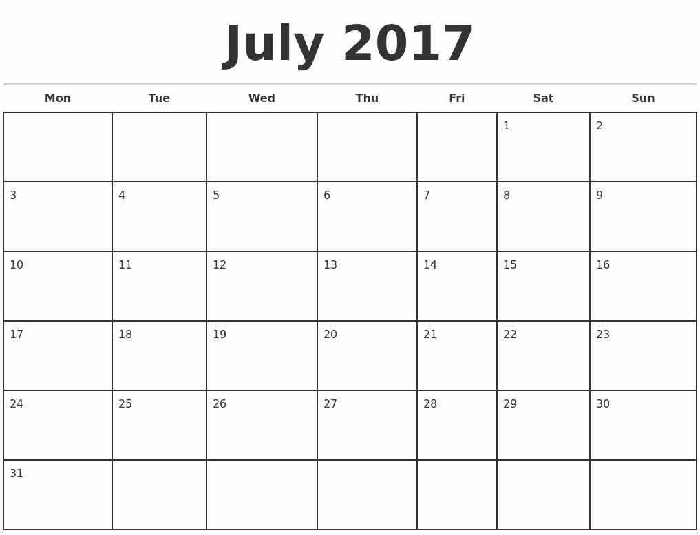 Free Printable Quarterly Calendar 2017 Awesome 2017 Monthly Calendar Template
