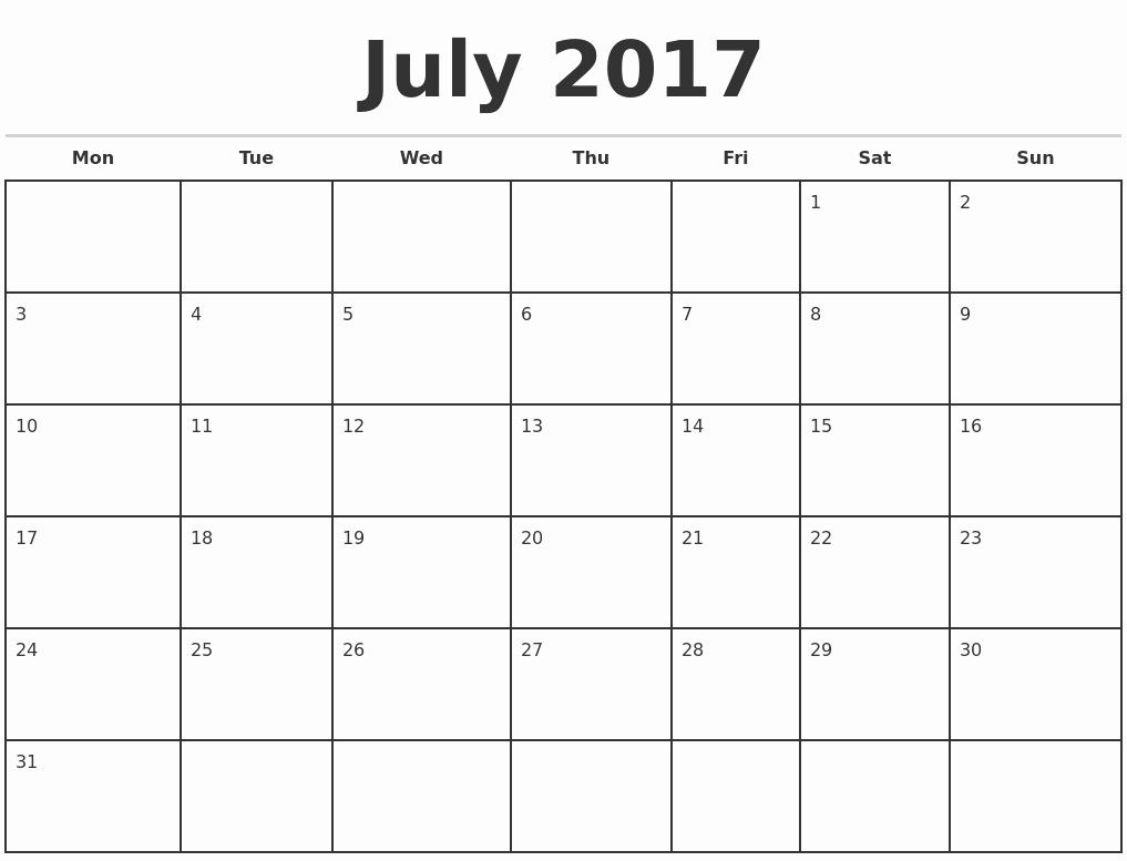 Free Printable Quarterly Calendar 2017 Awesome 2017 Monthly Calendar Template