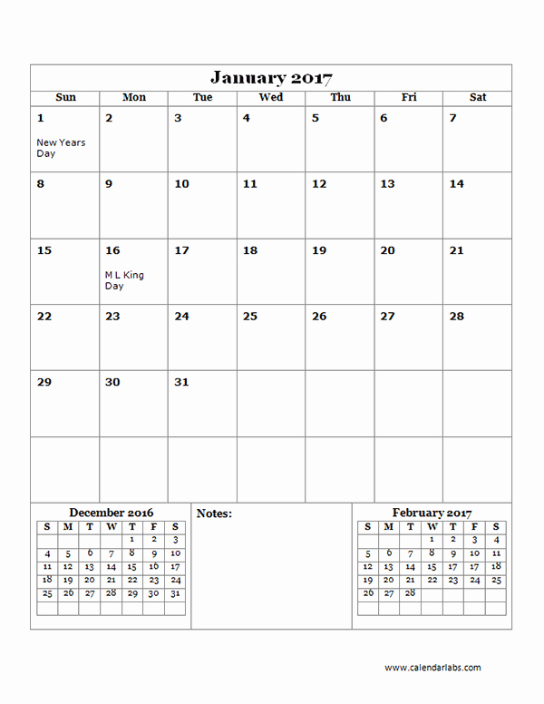 Free Printable Quarterly Calendar 2017 Inspirational 2017 Monthly Calendar Template 14 Free Printable Templates