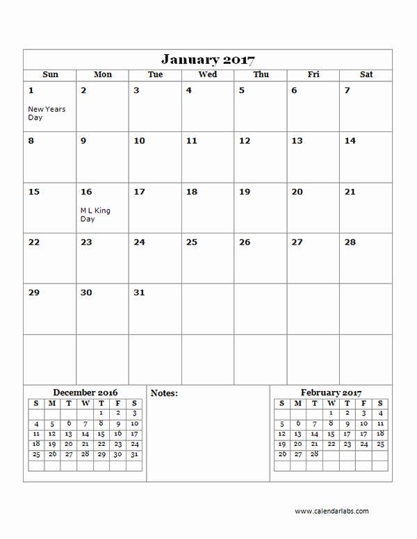 Free Printable Quarterly Calendar 2017 Inspirational 2017 Monthly Calendar Template 14 Free Printable Templates