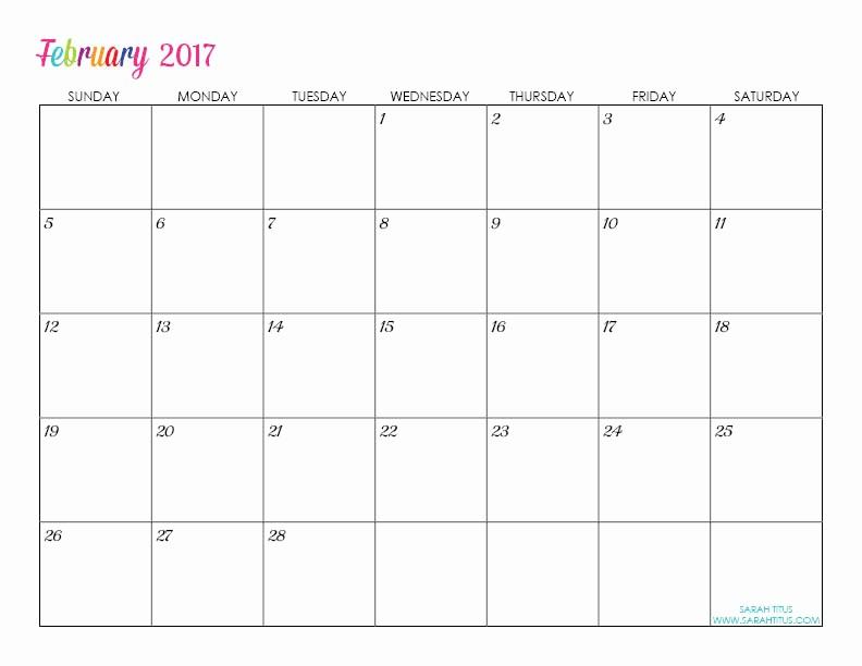 Free Printable Quarterly Calendar 2017 Luxury Custom Editable Free Printable 2017 Calendars Sarah Titus