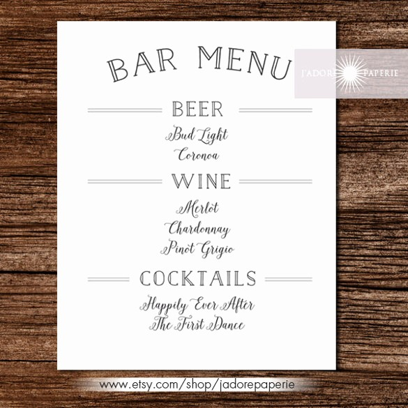 Free Printable Restaurant Menu Templates Awesome Bar Menu Templates – 35 Free Psd Eps Documents Download