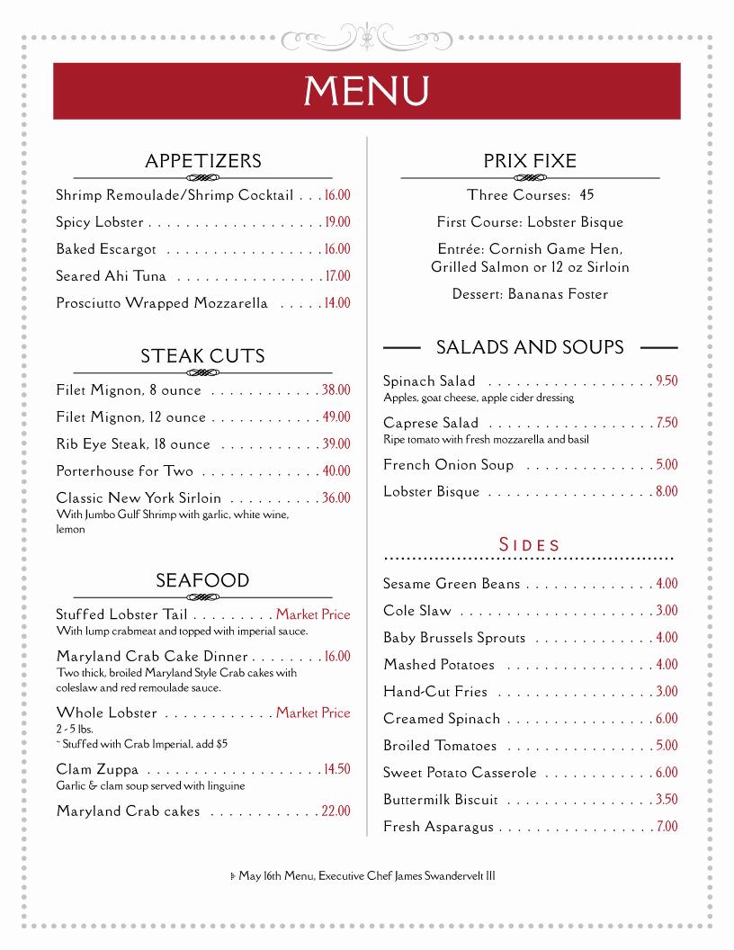Free Printable Restaurant Menu Templates Awesome Imenupro · Restaurant Menu Templates Menu software