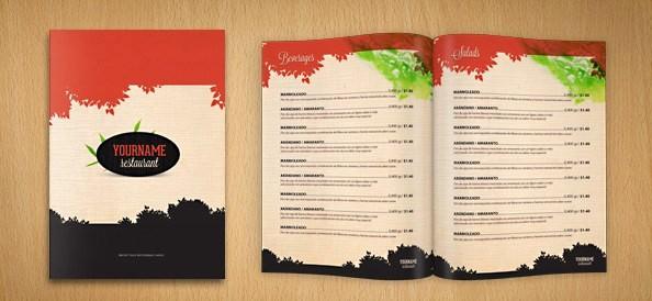 Free Printable Restaurant Menu Templates Inspirational Restaurant Menu Psd Template Free Psd Files