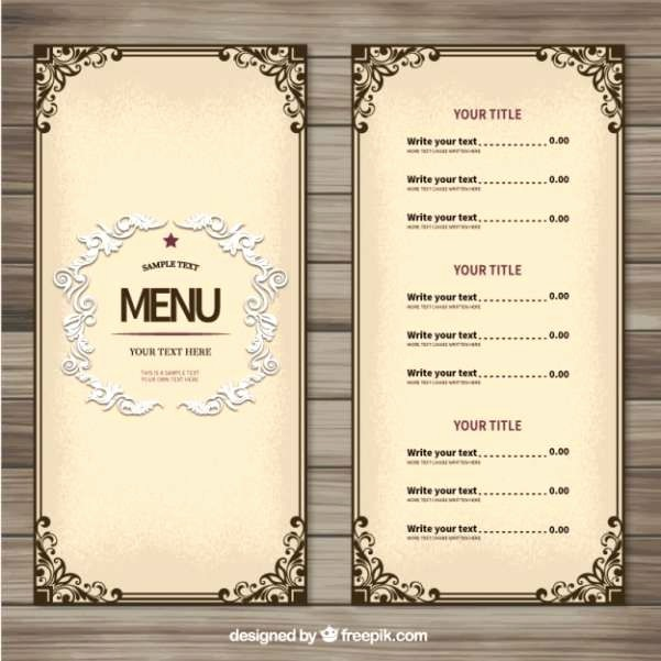 Free Printable Restaurant Menu Templates Lovely 25 Best Ideas About Menu Templates On Pinterest