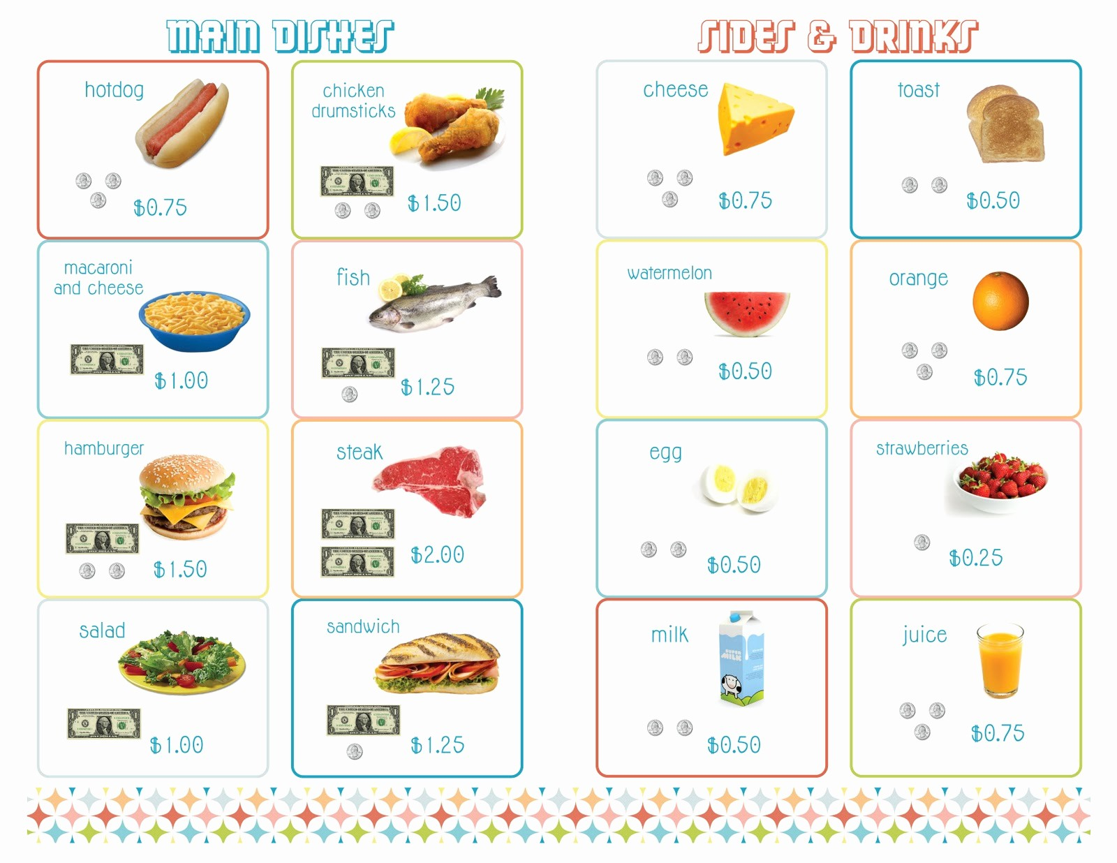 Free Printable Restaurant Menu Templates Lovely Amy J Delightful Blog Printable Menus for Playing Restaurant