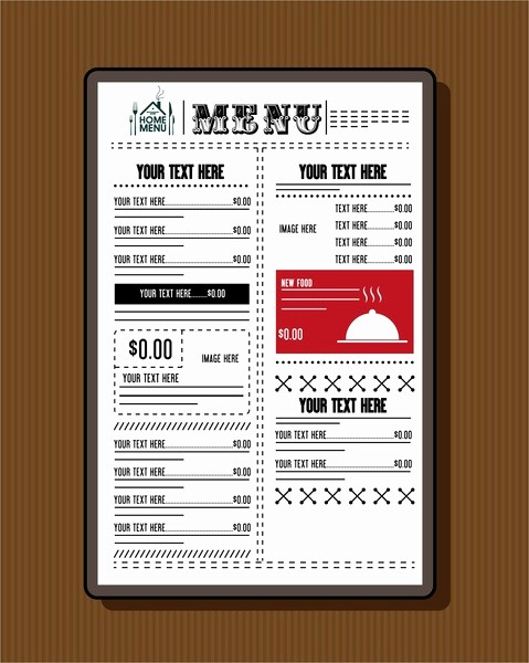 Free Printable Restaurant Menu Templates Lovely Restaurant Menu Template Free Vector 17 453 Free