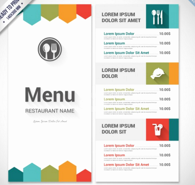 Free Printable Restaurant Menu Templates Lovely top 30 Free Restaurant Menu Psd Templates In 2018 Colorlib