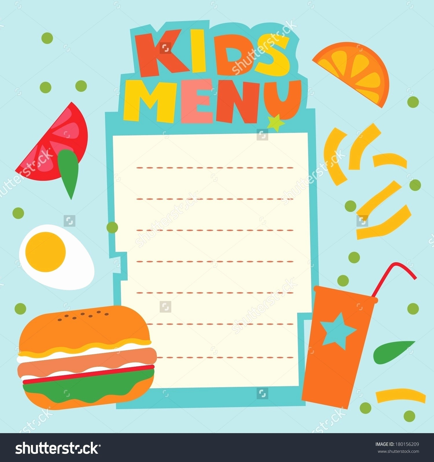 Free Printable Restaurant Menu Templates Luxury Blank Menu Template for Kids