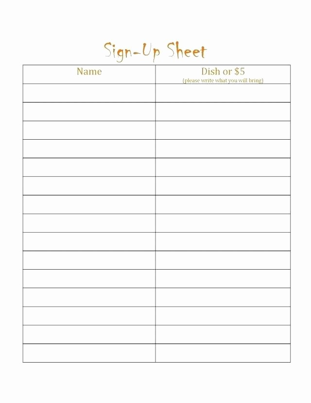 Free Printable Sign In Sheets Beautiful Editable Printable Sign Up Sheet Template Free