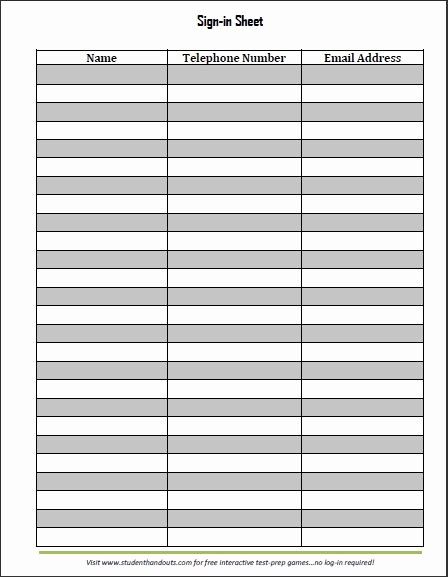Free Printable Sign In Sheets Elegant Guest and Visitor Sign In Sheet