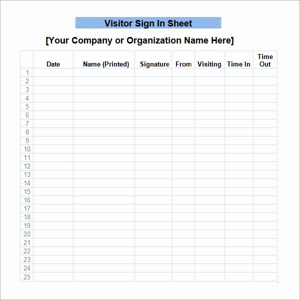Free Printable Sign In Sheets Elegant Sign In Sheet Template 21 Download Free Documents In