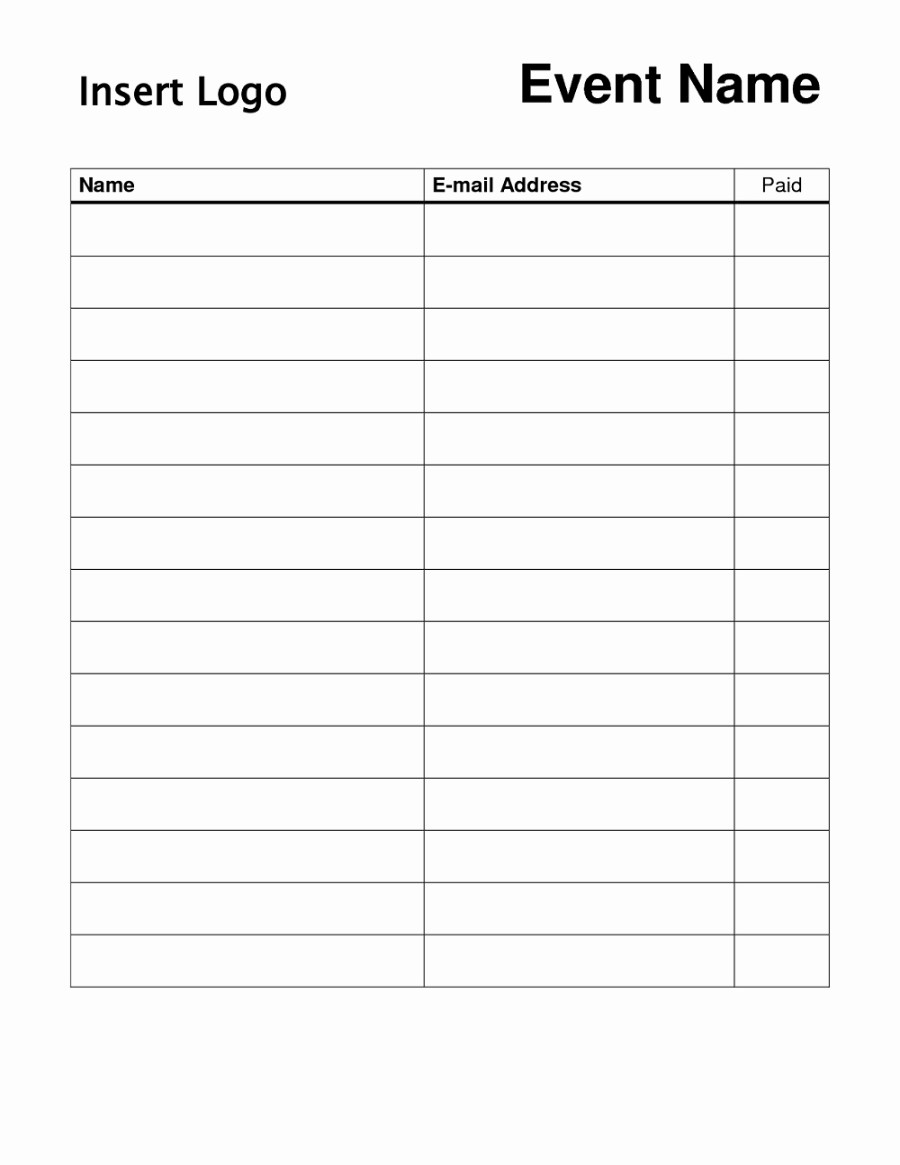 Free Printable Sign In Sheets Lovely Free Printable Sign Up Sheet Printable