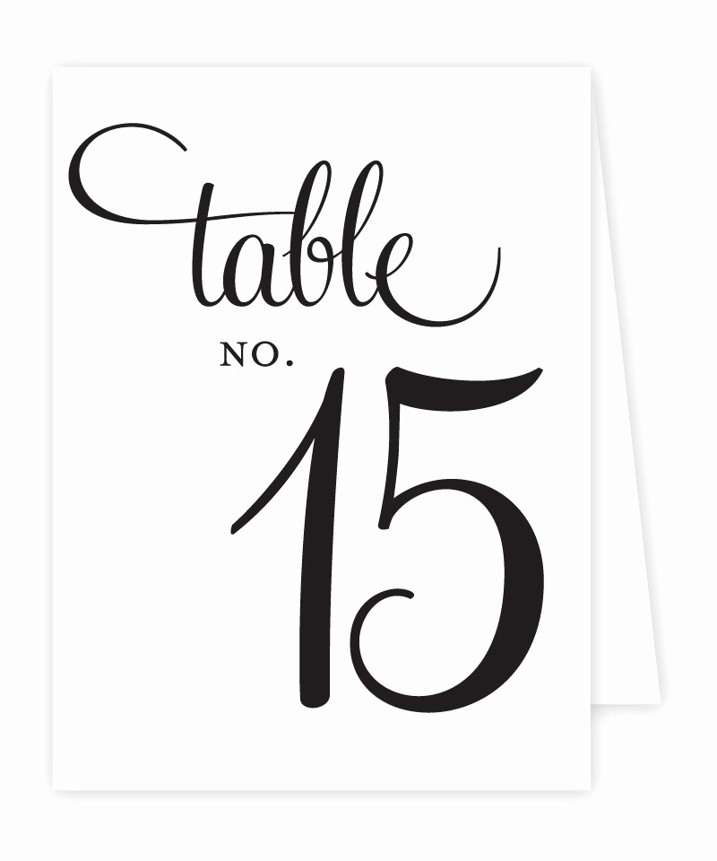 reception table numbers printable tent