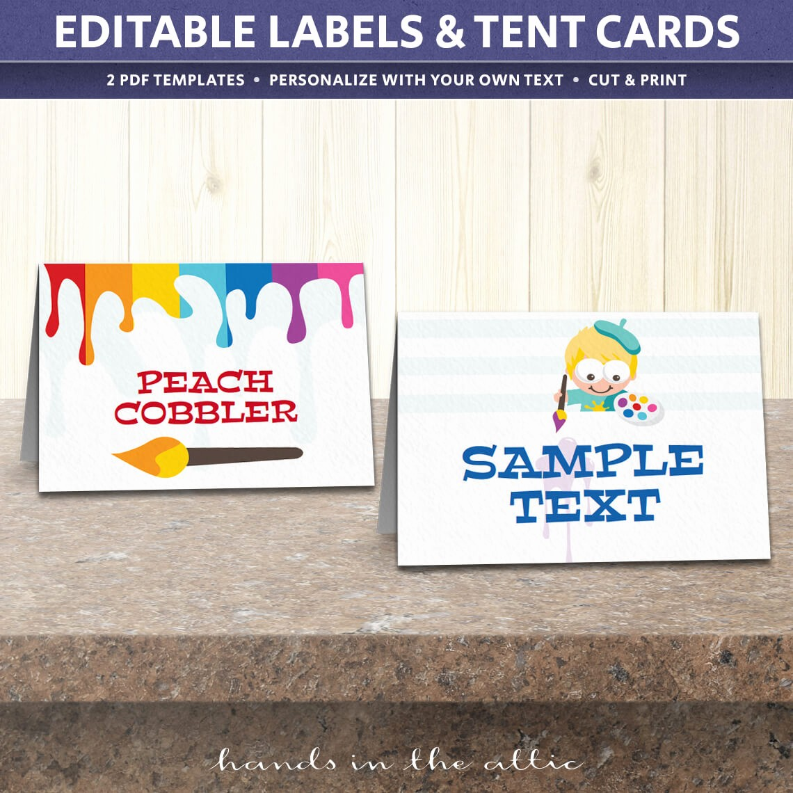 Free Printable Table Tent Cards Best Of Art Birthday Party Tent Cards Template