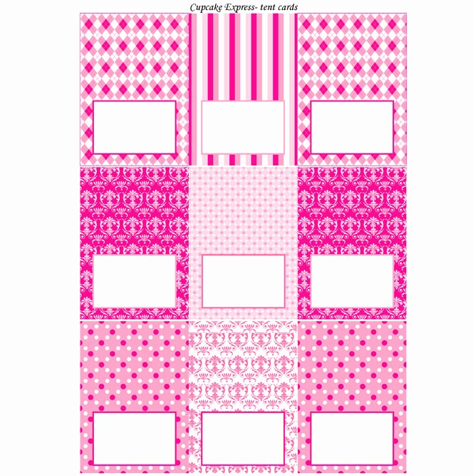 Free Printable Table Tent Cards Lovely Preppy Couture Printable Tent Cards