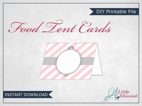 Free Printable Table Tent Cards Luxury Items Similar to Food Tent Cards Printable Food Tent