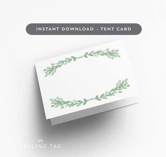 Free Printable Table Tent Cards Luxury Printable Wedding Place Cards Tent Card Version Blank