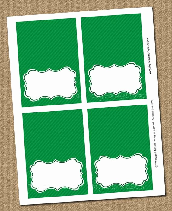 Free Printable Table Tent Cards Unique Items Similar to Emerald Green Printable Tent Cards and