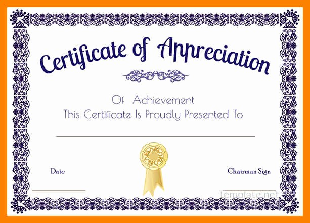 Free Printable Thank You Certificates Beautiful Certificates Appreciation Free Templatesee Thank You