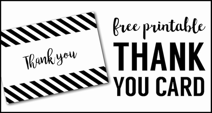 Free Printable Thank You Certificates Beautiful Free Thank You Cards Print Free Printable Black and White