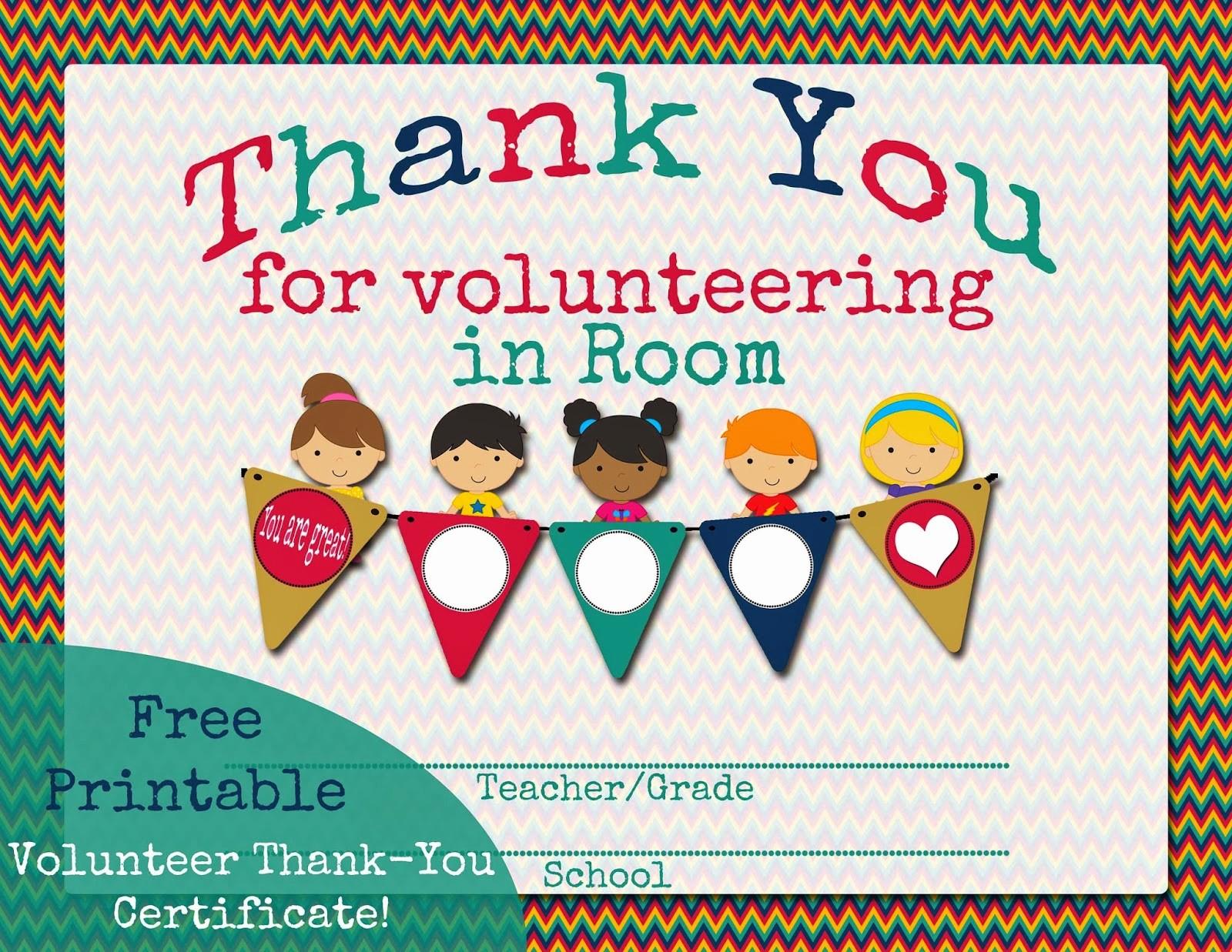 Free Printable Thank You Certificates Beautiful Printable Parent Volunteer Certificate