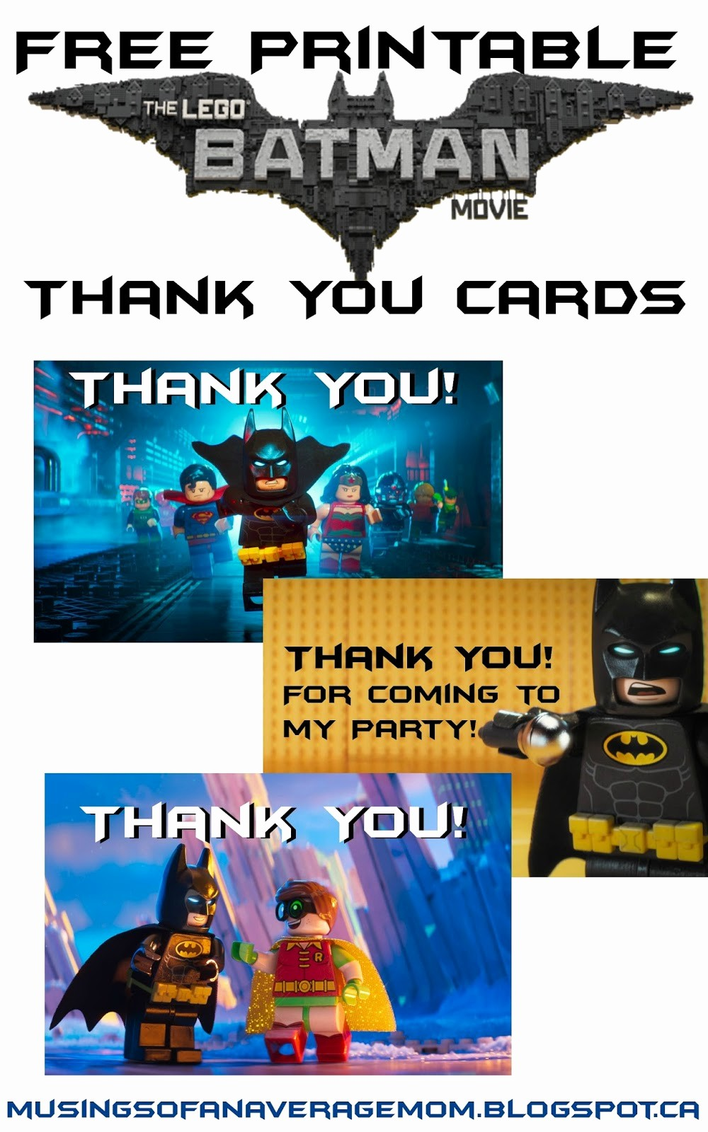 Free Printable Thank You Certificates Elegant Musings Of An Average Mom Everything You Need for A Lego