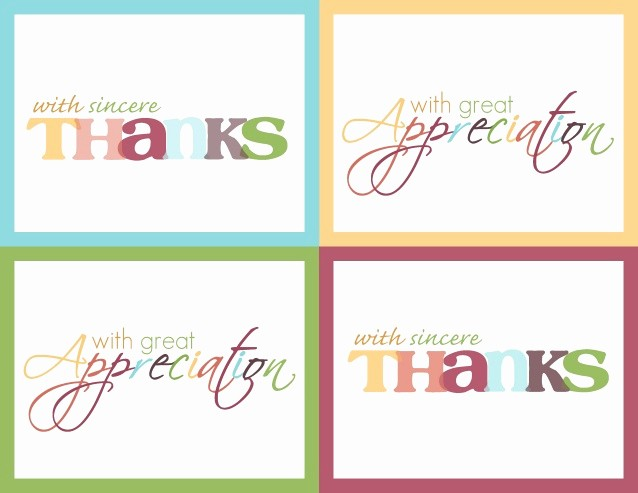 "Free Printable Thank You Certificates Inspirational Practice Thankfulness ""thank You Card"" Printable"