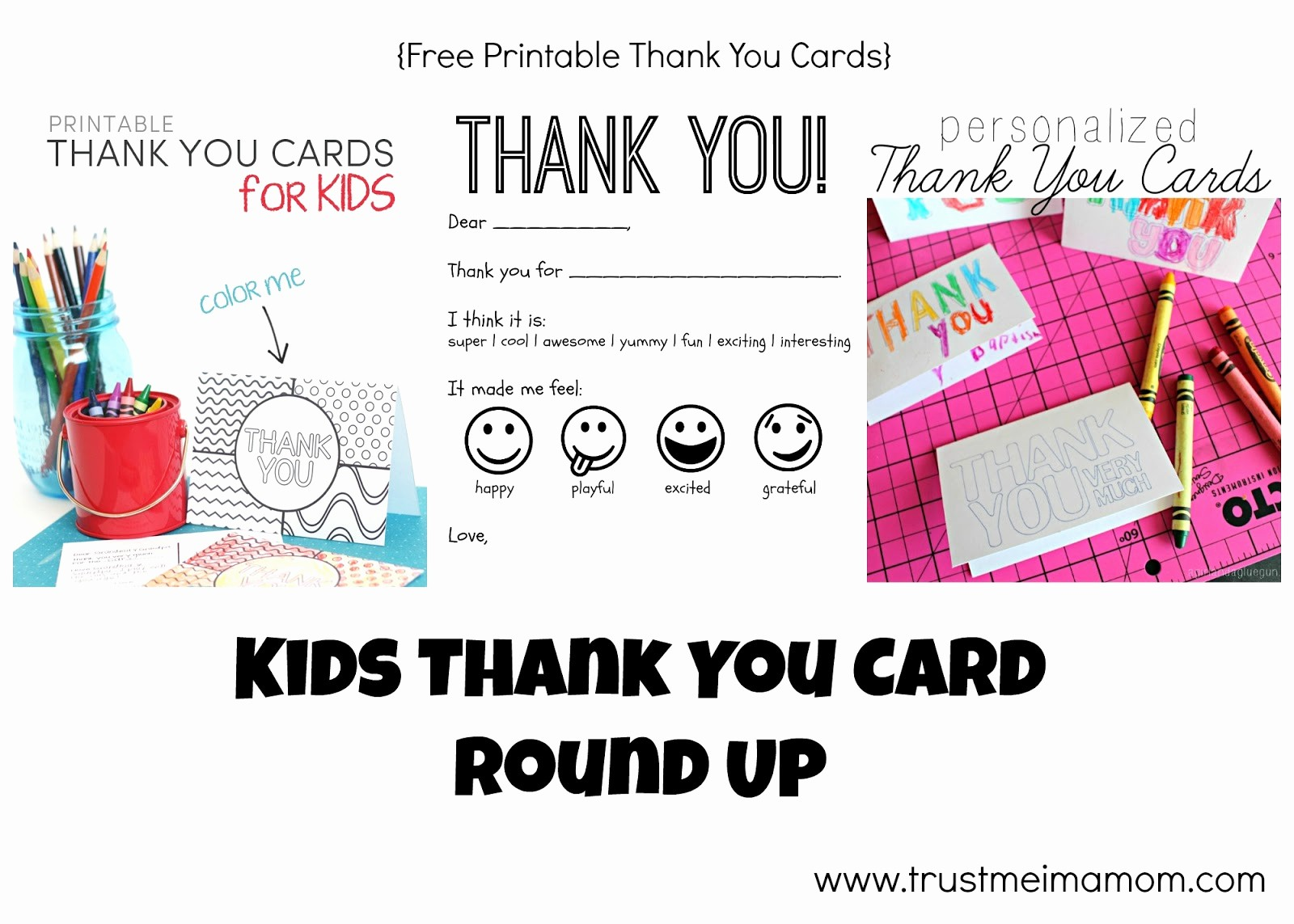 Free Printable Thank You Certificates Inspirational Trust Me I M A Mom Thank You Cards for Kids