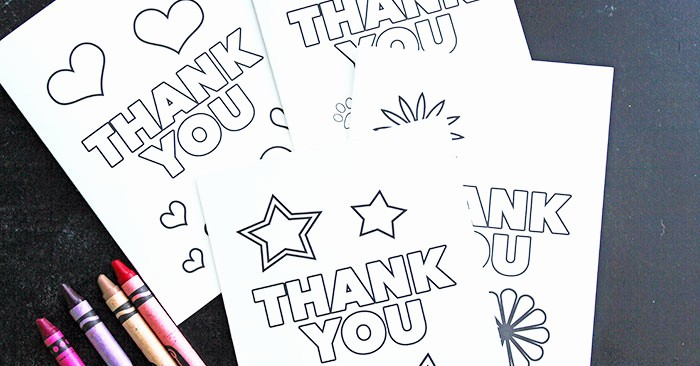 Free Printable Thank You Certificates Lovely Free Printable Thank You Cards for Kids to Color & Send