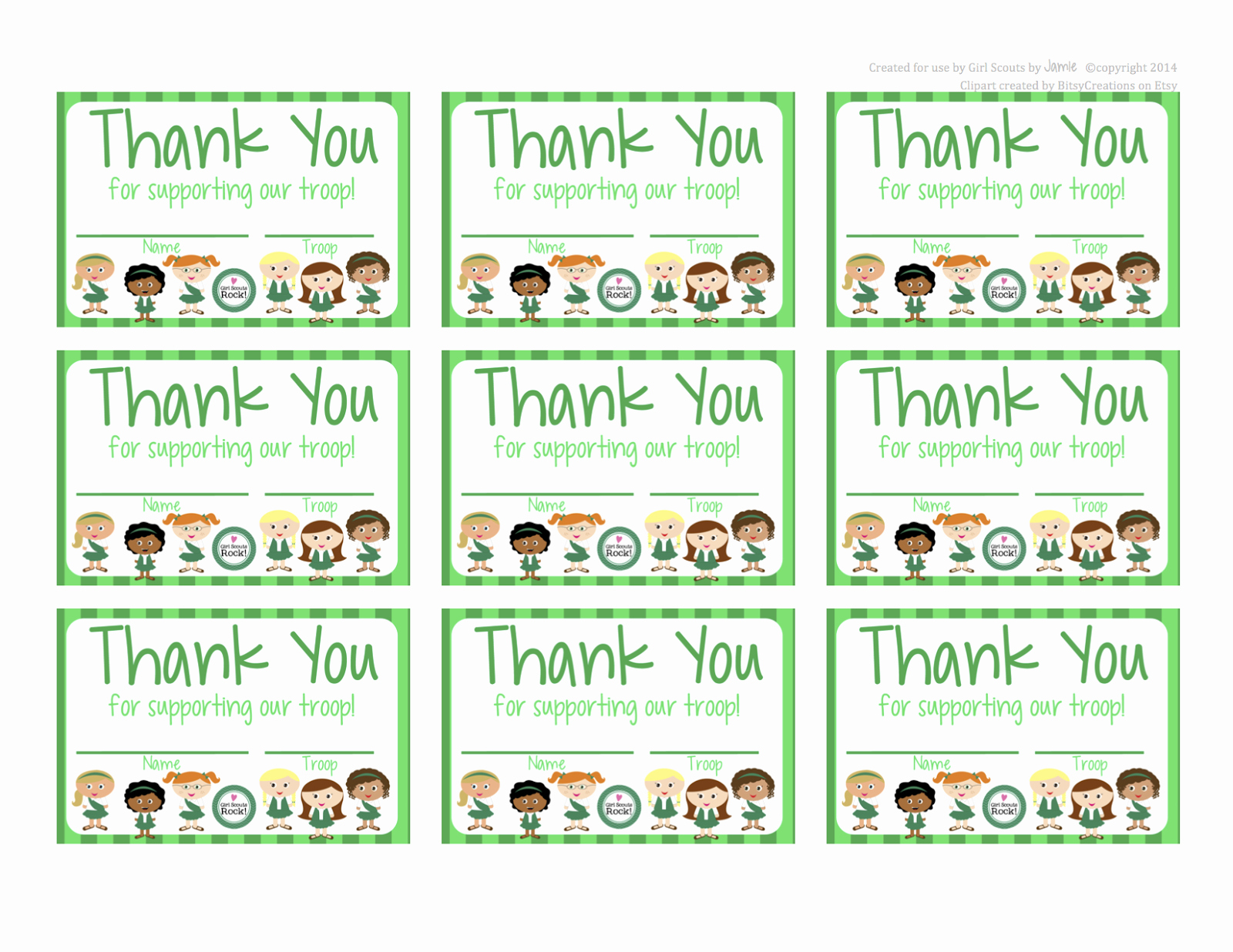 Free Printable Thank You Certificates Lovely My Fashionable Designs Girl Scouts Free Printable Thank