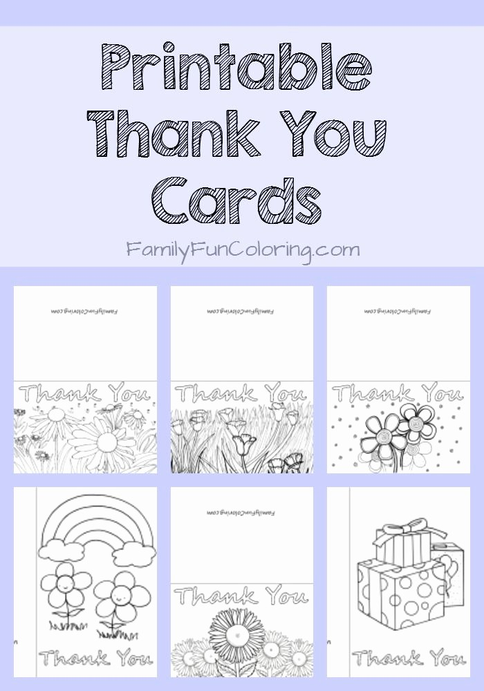 Free Printable Thank You Certificates Lovely Printable Thank You Cards to Color Familyfuncoloring