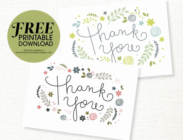 Free Printable Thank You Certificates New Free Printable Thank You Card Download She Sharon