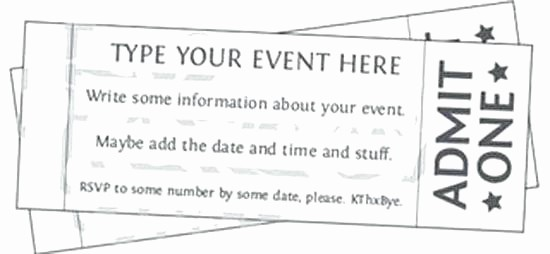 Free Printable Tickets with Numbers Beautiful Free Printable event Ticket Templates Raffle Template with