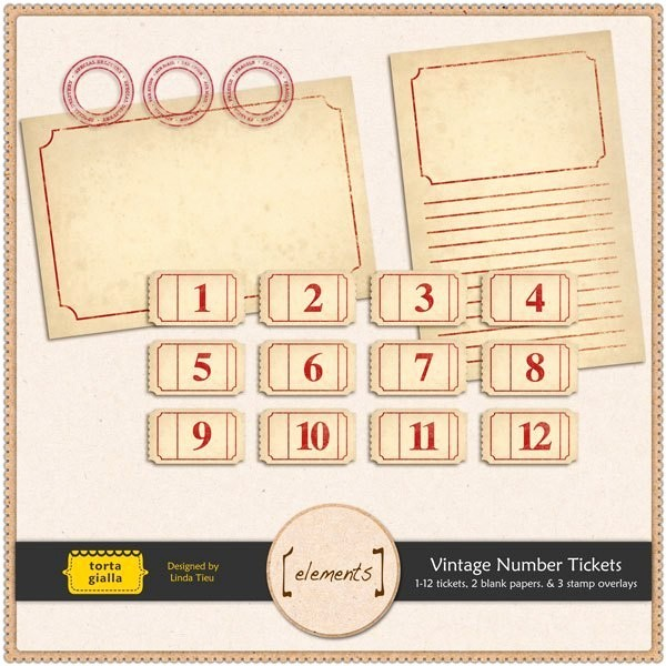 Free Printable Tickets with Numbers Beautiful Free Printable Vintage Number Tickets and Paper