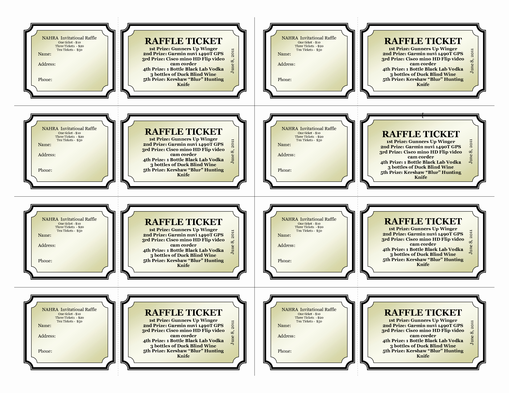 Free Printable Tickets with Numbers Beautiful Template for Raffle Tickets with Numbers