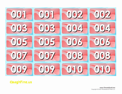 Free Printable Tickets with Numbers Best Of Free Printable Raffle Tickets Template