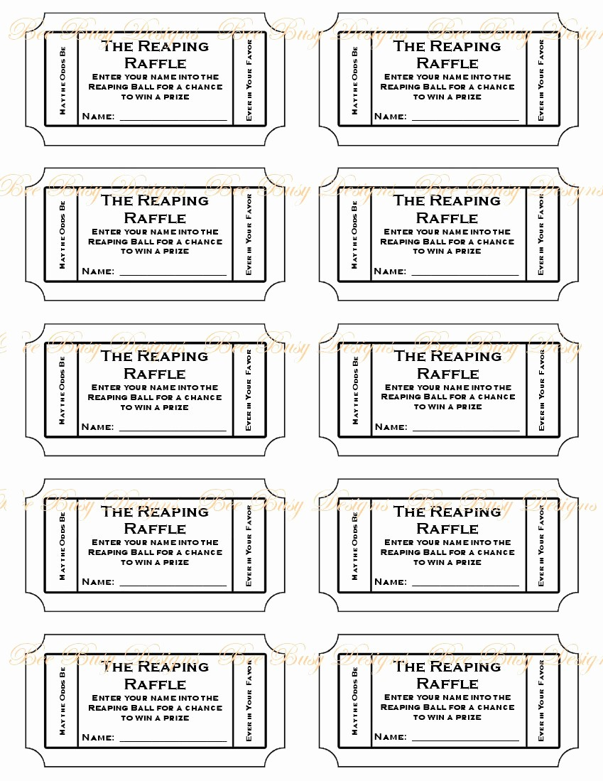 Free Printable Tickets with Numbers Elegant Free Printable Raffle Ticket Template Easytouse Free