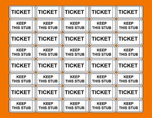 Free Printable Tickets with Numbers Inspirational Avery Printable Tickets Raffle Tickets without Numbers